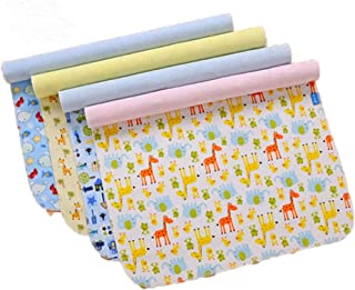 4 Pack Monvecle Baby Infant Waterproof Bamboo Cotton Changing Pads Washable Resuable Diapers Liners Mats (4 Pack-18