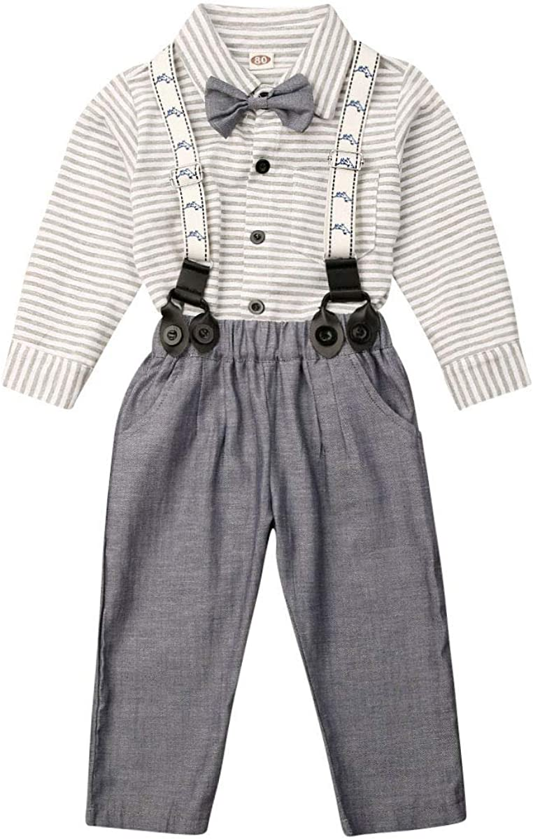 Toddler Boy Clothes Long Sleeve Foraml Suit Outfits Set