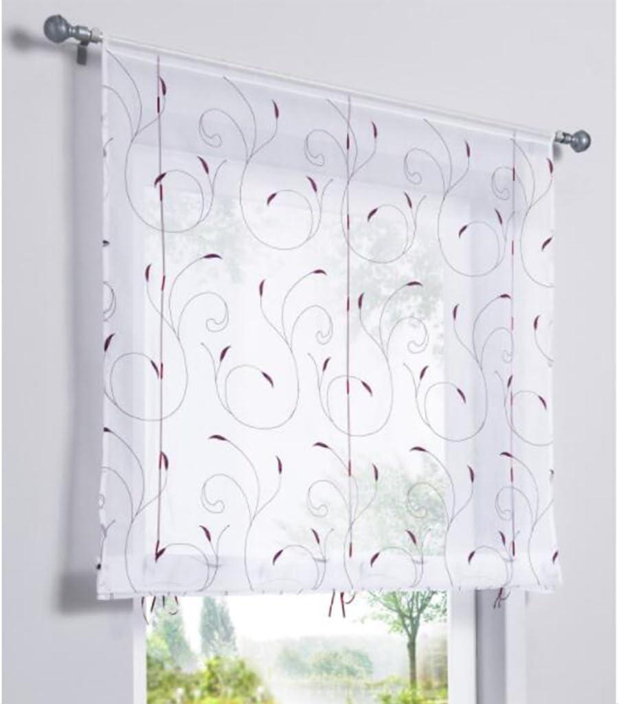 Amazon.de SIMPVALE 20 Stück Fenster Vorhang Stickerei Floral Gabi ...