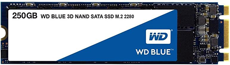 WD Blue 3D NAND 250GB Internal PC SSD - SATA III 6 Gb/s, M.2 2280, Up to 550 MB/s - WDS250G2B0B