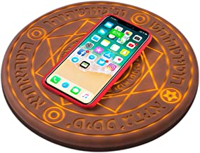 YAOGONG Magic Array Wireless Charger 10w Ultra-Thin Qi Certified Fast Compatible Canvas Wireless Charging Pad…