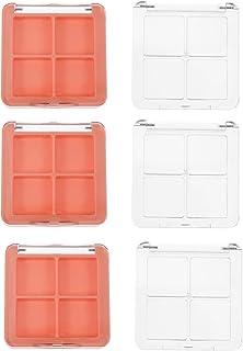 Beaupretty 6 stuks lege oogschaduwpaletten DIY navulbaar kunststof 4 roosters oogschaduw paletten opslag dozen voor vrouwe...