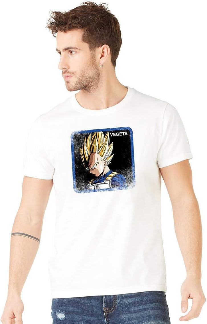 T-Shirt Homme Dragon Ball Z Vegeta Saiyan Blanc
