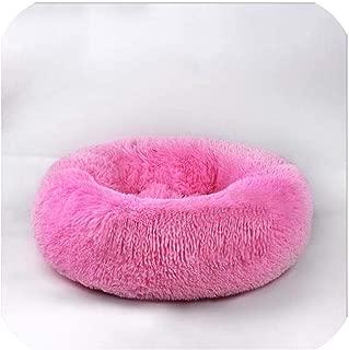 整形外科犬ベッド快適なドーナツCuddlerラウンド犬のベッドウルトラソフト洗える犬と猫クッションベッド、ローズ、Odを100CM
