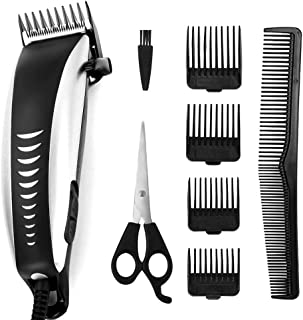 Hair Clippers, High-Performance Hair Clipper Trimmer Tool with Haircut Kit for Men, Father, Husband, Kids, Pet with An All Metal Housing (Black)