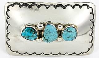 navajo sterling belt buckle