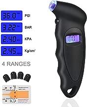 URAQT Manómetro Digital para Neumáticos, Manómetro Electrónico de Neumáticos, Medidor de Presión Neumáticos con Pantalla LCD Retroiluminada para Auto,Motocicleta, Bicicleta