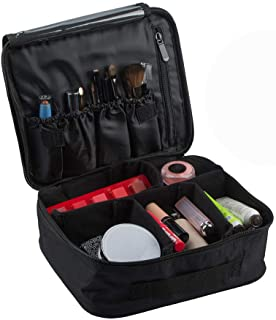 Travel Makeup Case, SourceTon Professional Cosmetic Makeup Bag Organizer Makeup Boxes With Spaced Cosmetic Bag