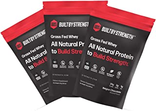 BuiltByStrength 10 Pack Whey Protein Samples - 5 Chocolate and 5 Vanilla Grass Fed NSF Certified All Natural Whey Isolate ...