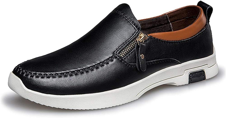 Herrenmode Oxford Casual bequem und bequem einfarbig Slip auf Formale Schuhe,Grille Schuhe