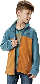 Columbia Little Boy's Steens Mt II Fleece Outerwear Canyon Gold/Blue Heron X-Small
