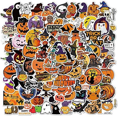 BLOUR 100PCS Halloween niedlichen Cartoon Kürbis Aufkleber Laterne Pegatina zu Motorrad Laptop Skateboard Fahrrad PS4 Gitarre Helm Aufkleber