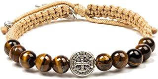 My Saint My Hero Wake Up and Pray Meditation Bracelet - Tiger's Eye/Silver