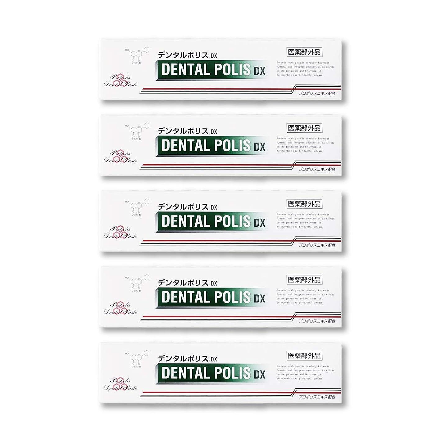 専制うがい薬遺産デンタルポリスDX  80g   5本セット 医薬部外品  歯みがき