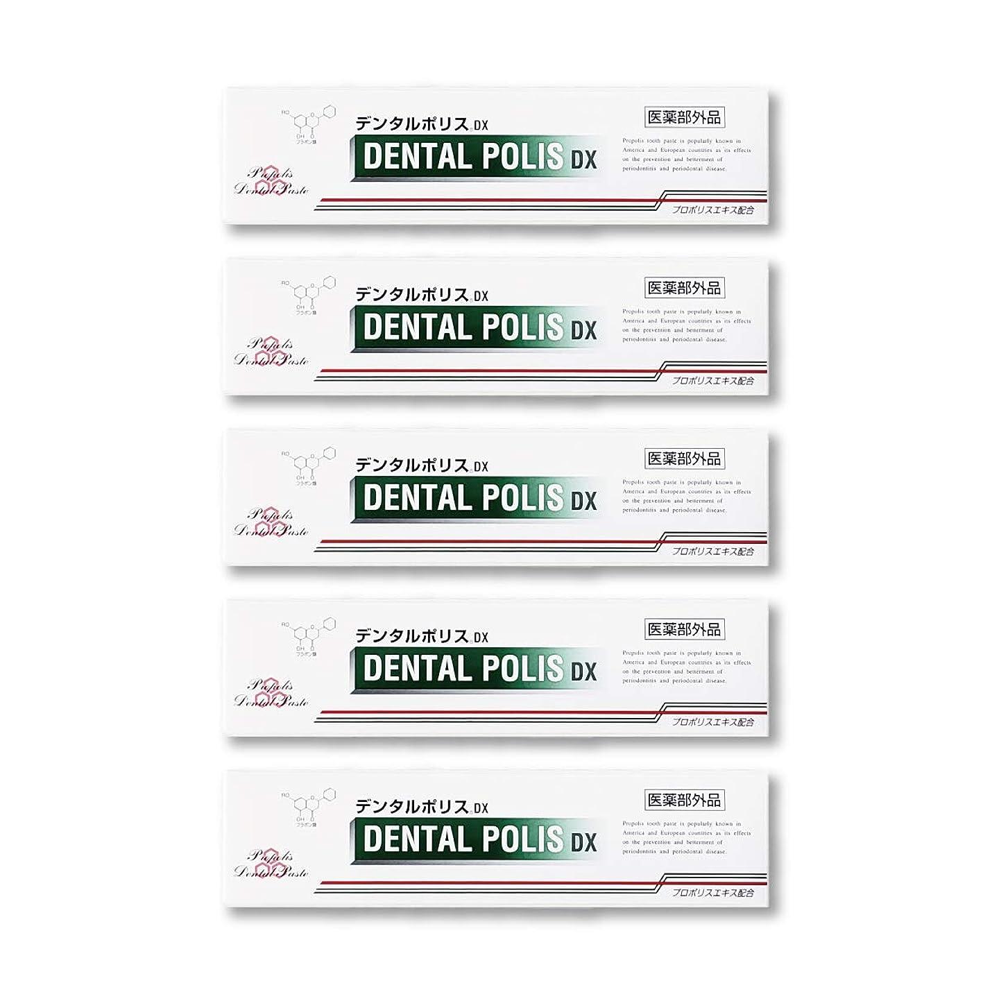 メールを書く寛容な土デンタルポリスDX  80g   5本セット 医薬部外品  歯みがき