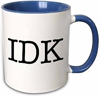 3dRose Idk Black Two Tone Mug, 11 oz, Multicolor