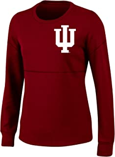 NCAA Indiana Hoosiers Womens NCAA Women's Long Sleeve Mascot Style Teeknights Apparel NCAA Women's Long Sleeve Mascot Style Tee, Red Masquerade, Large