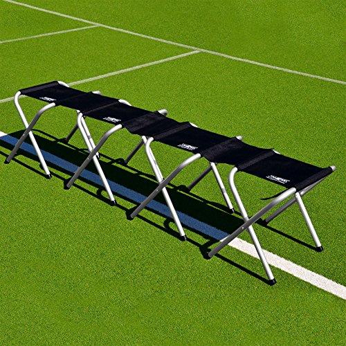 FORZA Fußball Sitzbank (Professionell Modell) – tragbare Aluminium Sitzbank – 3 Größe erhältlich (4-Sitze Teambank)