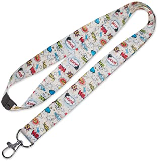 Lucky Line Lanyard with Swivel Snap, Comic Design (C203)