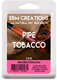 Pipe Tobacco – Scented All Natural Soy Wax Melts – 6 Cube Clamshell 3.2oz Highly Scented!