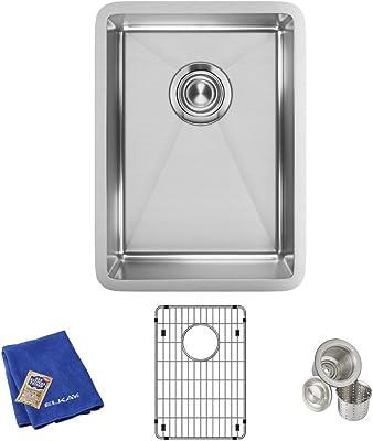 Elkay Crosstown Stainless Steel 18 1 2 X 18 1 2 X 9 Single Bowl Undermount Sink Kit Amazon Com