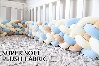 Soft Baby Bed Crib Cot Bumper Pads Bedding Set Lovely Hemp Flowers Big Hugging Pillow Soft Crystal Velvet Toy Cushion Pillow Sleeping Velvet Toys,C-3m