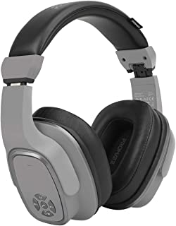 Promate Wireless Headphone with Speaker, 2-in-1 High Definition Bluetooth v5.0 Headphone with Built-in 6W Speaker, Mic, 12H Playtime, MicroSD Card Slot, FM Radio and AUX Port, Corvin Grey