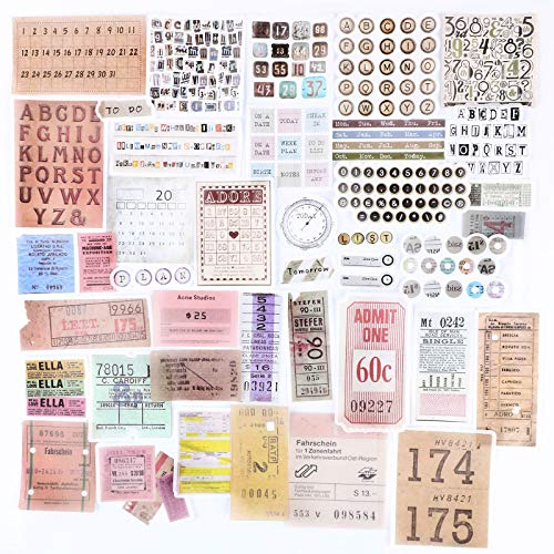 120 Pegatinas Stickers Scrapbooking Manualidades Bullet Journal Álbum Fotos Agenda Adhesivos DIY Decoración Álbumes de Recortes Calendarios Tarjetas Sobres Regalos