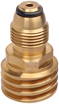 Converts Propane LP TANK POL service valve to QCC Outlet Brass Adapter GS^