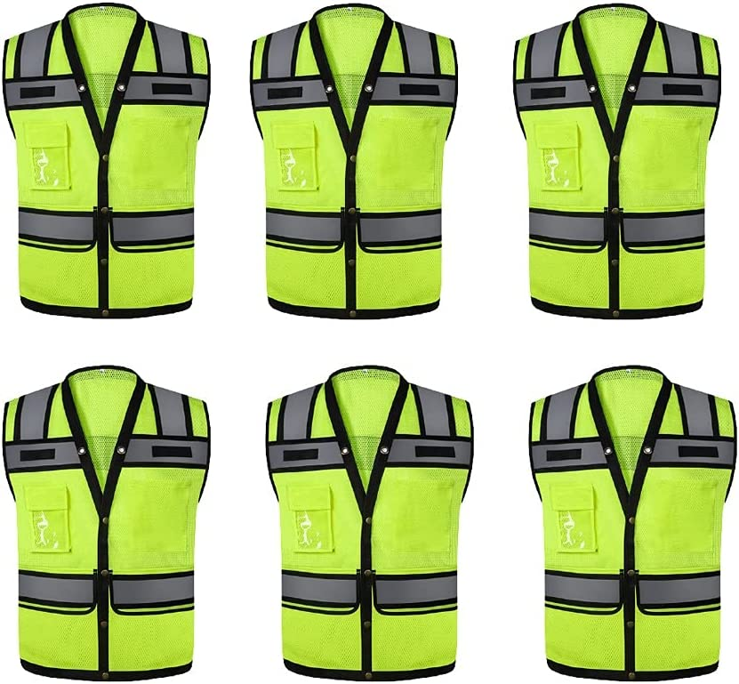 lhl Bright Reflective Bombing new work Vest High Front Safety Sale SALE% OFF Buc Visibility