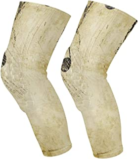 Knee Sleeve Piano Backgrounds Music Full Leg Brace Compression Long Sleeves Pads Socks for Meniscus Tear, Arthritis, Running, Workout, Basketball, Sports, Men and Women 1 Pair
