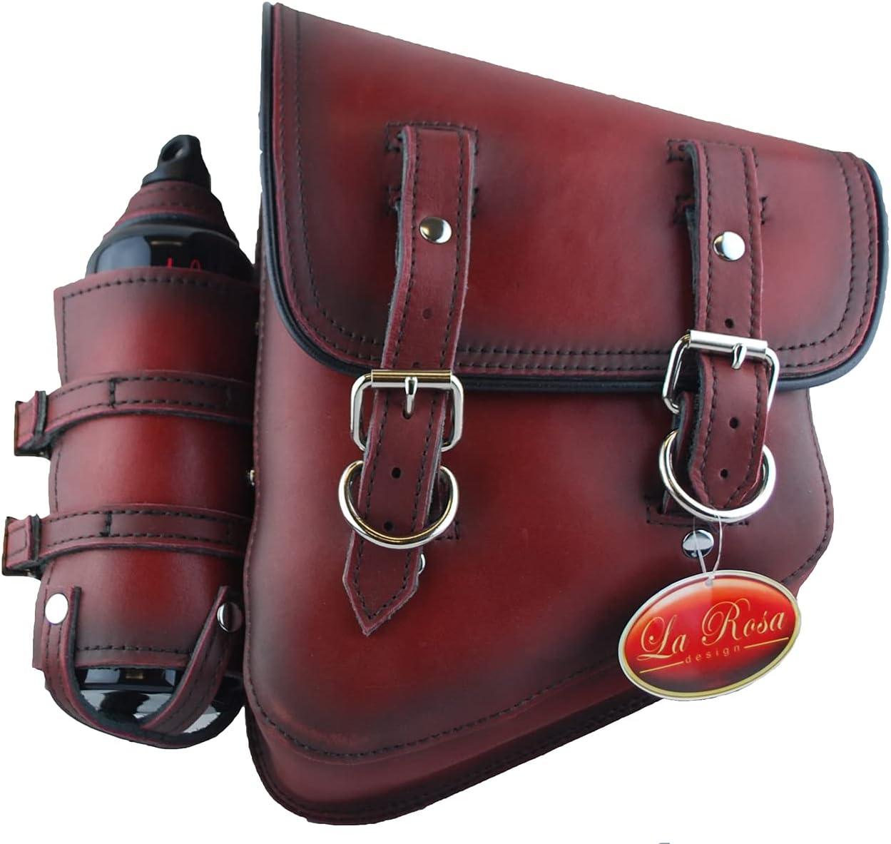 SSBBL01BHLRD-7 La Rosa Leather Saddlebag SHEDR ANTIQUE Columbus Mall LEFT SIDE Opening large release sale