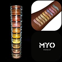 10 MYO All Shimmer S'Mores Stack Eyeshadow Pigment Stackable Set Mica Cosmetic Mineral Makeup.