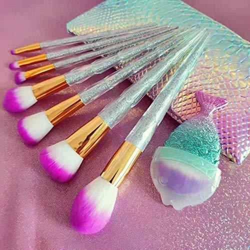 ZYFF huazhuangshua Pinceau de maquillage 8 tour de spirale Pinceau de maquillage coloré Set brosse pour les débutants Ensemble complet d'outils de beauté grand pinceau en forme de ventilateur en poudr
