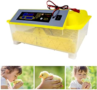 Egg Incubator 48 Fully Automatic Poultry Hatcher Incubato Auto-Turning Dual Power Supply Hatching Machine