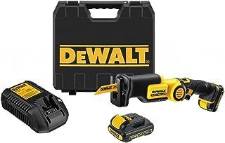 DeWalt Batteridriven sågar (10,8 volt, 2,0 Ah, mycket kompakt design och låg vikt, integrerad LED-lampa, innehåller 2 batt...