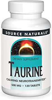Source Naturals Taurine 500 mg Tabs, 120 ct