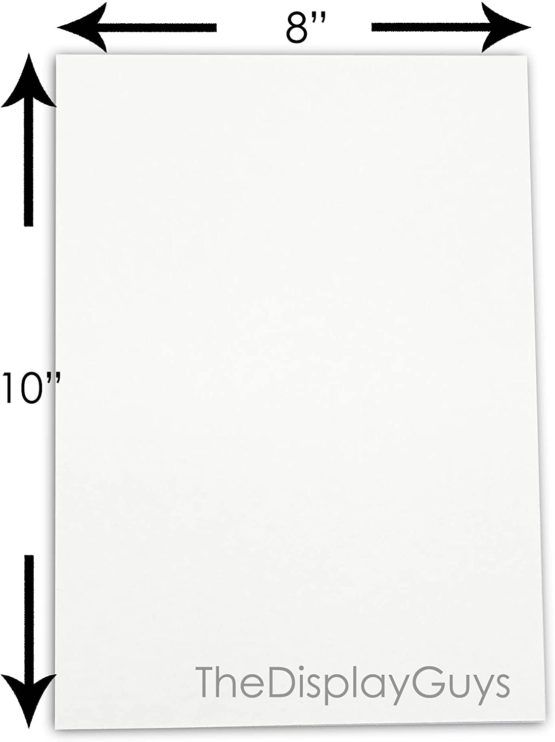 10-Pack White Backing 16x20 Uncut Boards for Art Prints and More Photos Mat Board Center Prints Full Sheet