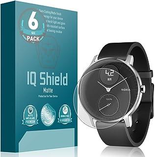 IQ Shield Matte Screen Protector Compatible with Nokia Steel HR (36mm)(6-Pack) Anti-Glare Anti-Bubble Film