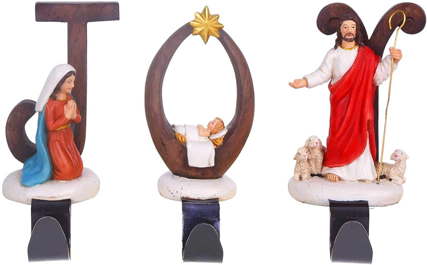 Vencer Japan's largest assortment Joy Nativity Set of 3 Christmas Holder and Stocking Resin Limited time for free shipping