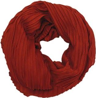 Damen Schal Rechteck Tuch 2 Mix Farben Falten Muster Plissee Stola SH-8912