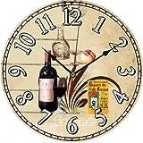 XYQY Vintage Reloj de Pared de Madera Grande Shabby Chic rústico Cocina hogar Antiguo Estilo12