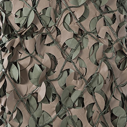 CamoSystems Premium Series Camouflage Military Net with Mesh Netting Attached, Small, 9'10' x 9'10', Original Camo - Green/Brown