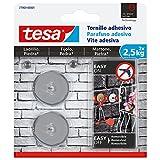 tesa 77903-00001-00 Tornillo Adhesivo Redondo para ladrillo y Piedra 2,5 kg, Set de 2 Piezas