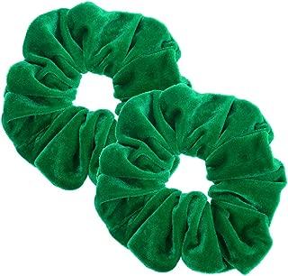 Best dark green hair scrunchies Reviews