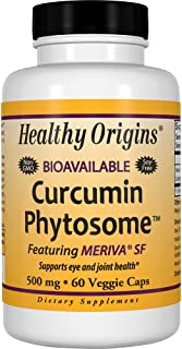 Healthy Origins Curcumin Phytosome (Featuring Meriva SF) 500 mg, 60 Veggie Caps
