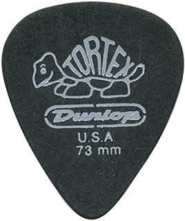 Dunlop 488 TORTEX PITCH BLACK Standard Púas (72-Pack) 0.73 mm