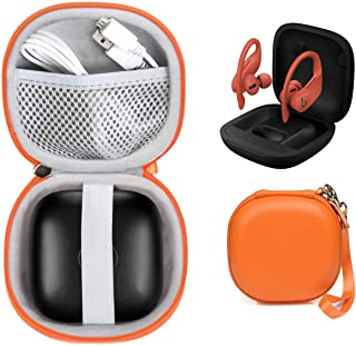WGear Customized Travel Case for Beats Powerbeats Pro - Totally Wireless Earphones, Mesh Cable Pocket, Elastic Secure Stra...