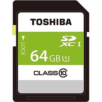 東芝 SDXCカード 64GB Class10 UHS-I対応 (最大転送速度48MB/s) 日本製 国内正規品 Amazon.co.jpモデル THN-NW64G4R8