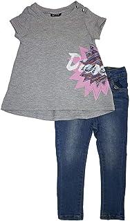 336e2c3a1a9d Diesel Little Girls  Two-Piece Denim Pant Set